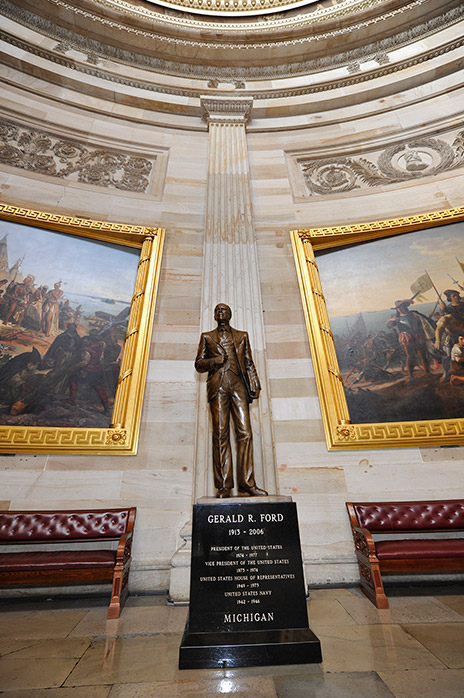 Bronze statue of Gerald Ford in the National Statuary Hall.