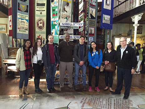 Students on a tour of South Africa
