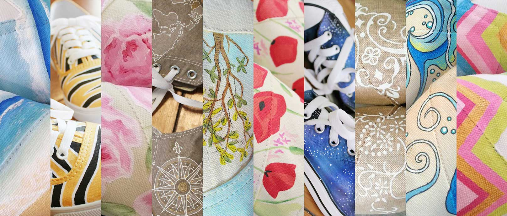 Examples of shoes that Lauren Runquist has designed.