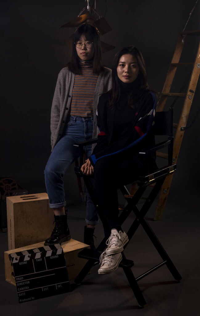 Fanxi Sun and Roxanne Wan pose for a photo