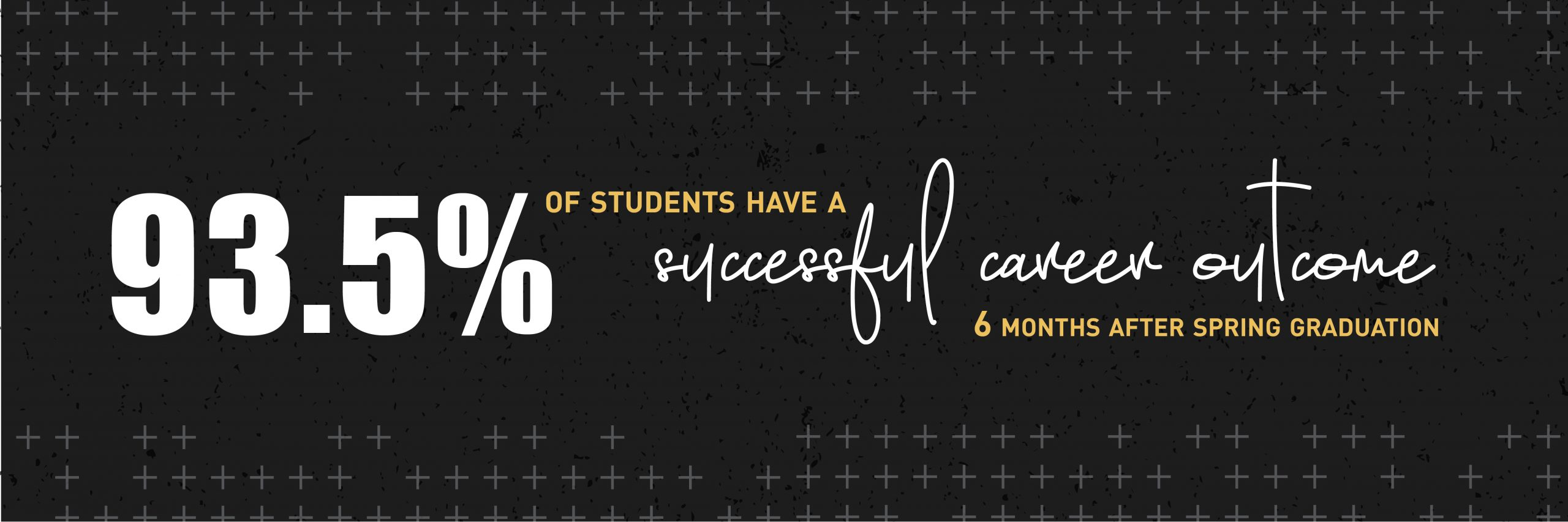 93.5% of students have a successful career outcome, 6 months after spring graduation